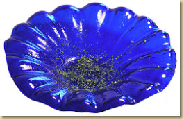 A beautiful blue dish